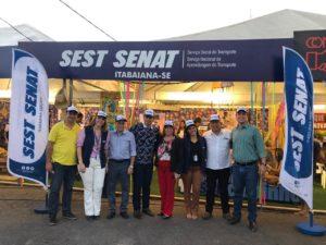 Presidente da Fetralse conhece as instalações do Sest Senat em Itabaiana