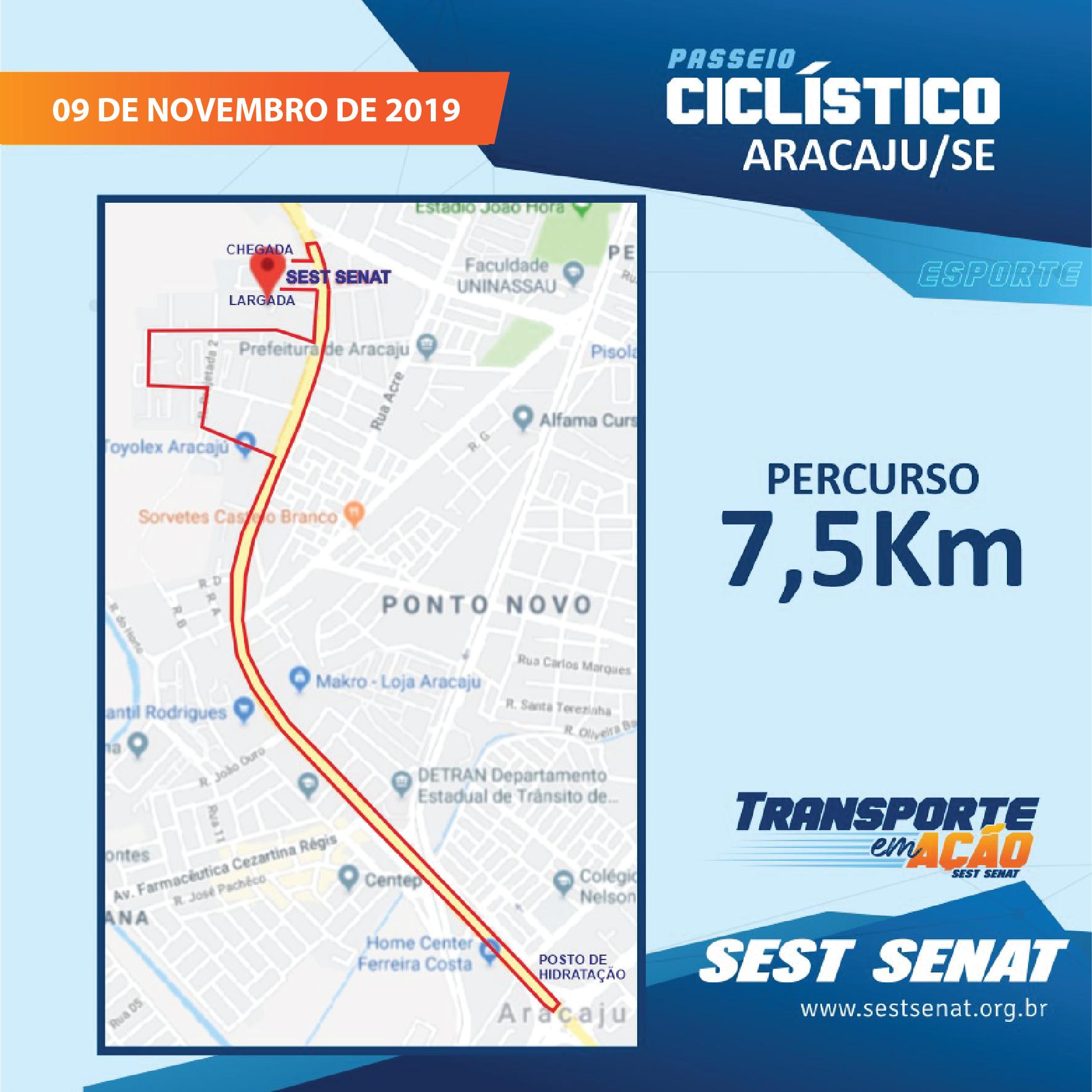 Sest Senat promove passeio Ciclístico neste sábado, 9