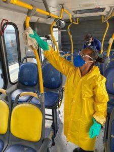 Fetralse acompanha o trabalho de prevenção do Sinturb em combate ao Coronavírus