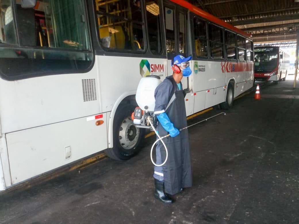 Empresas de ônibus de Maceió intensificam ações de combate a Covid-19