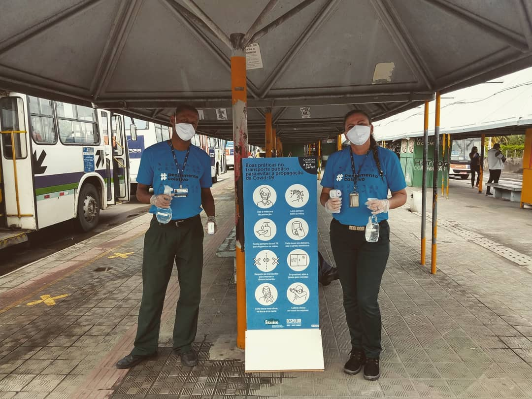 Empresas de ônibus reforçam combate a Covid-19 com medição de temperatura