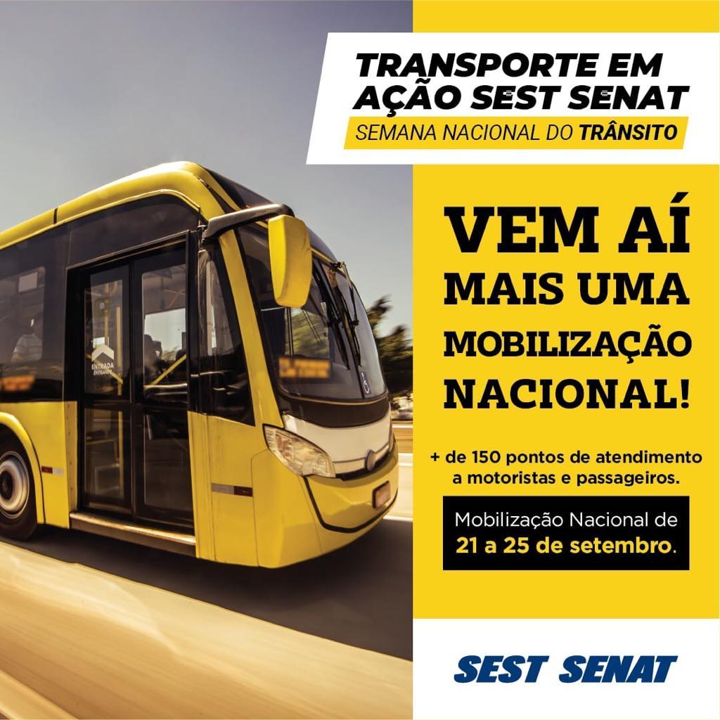 SestSenat oferece programação para a Semana Nacional do Trânsito