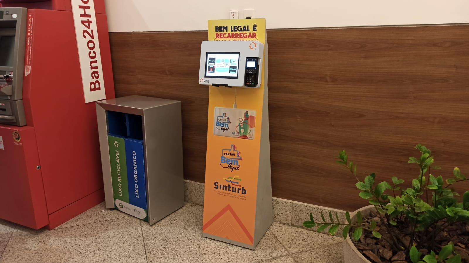 Cartão Bem Legal ganha novo totem de recarga no Parque Shopping