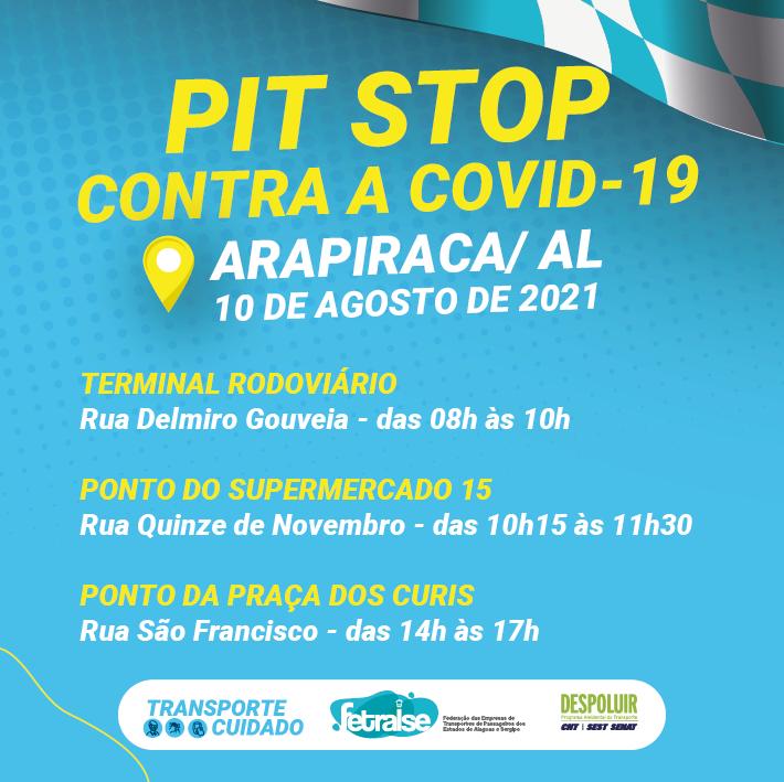 Fetralse lança segunda edição do Pit Stop Transporte Cuidado em Alagoas